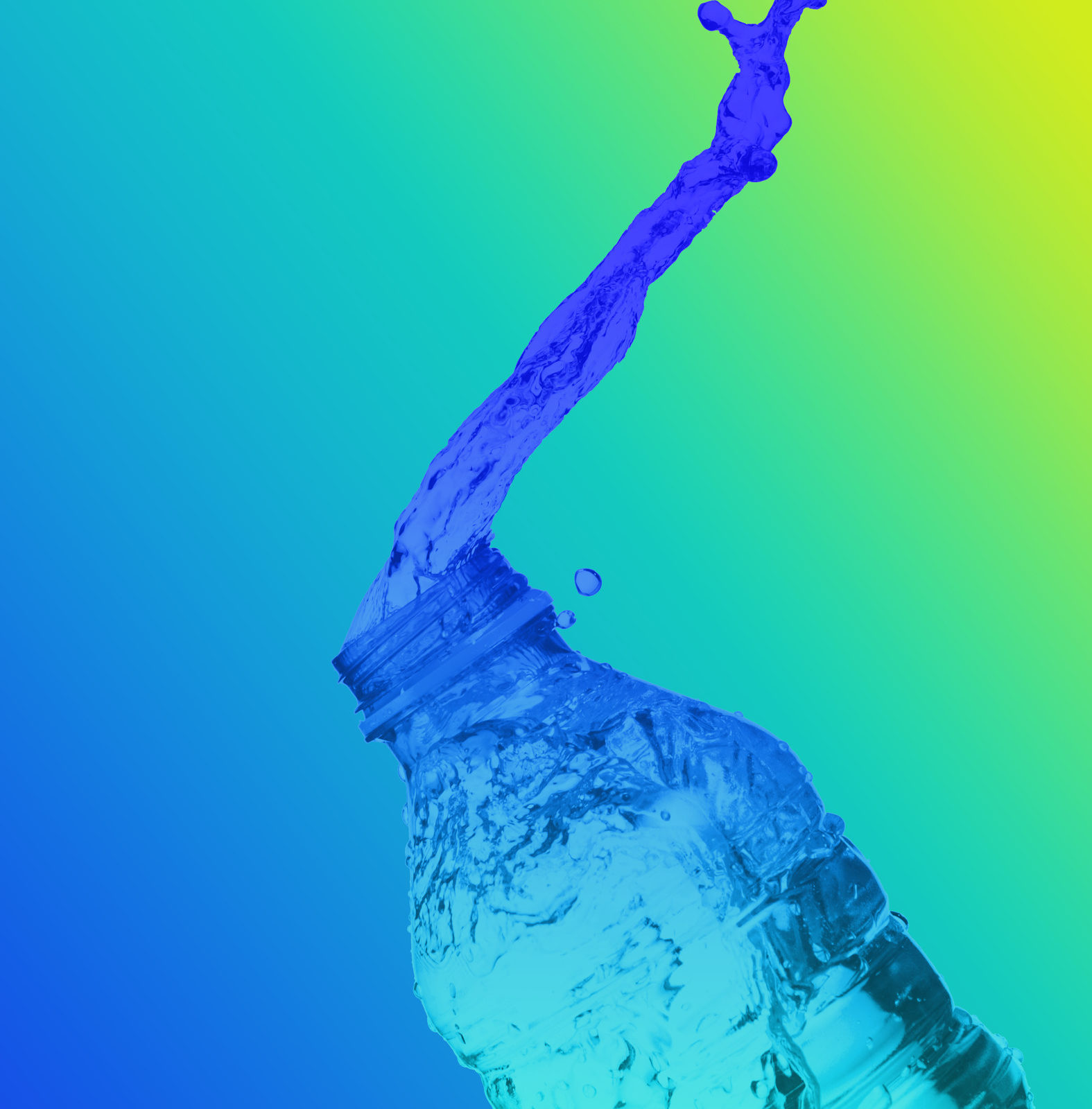 time lapse photography of multicolored water bottle